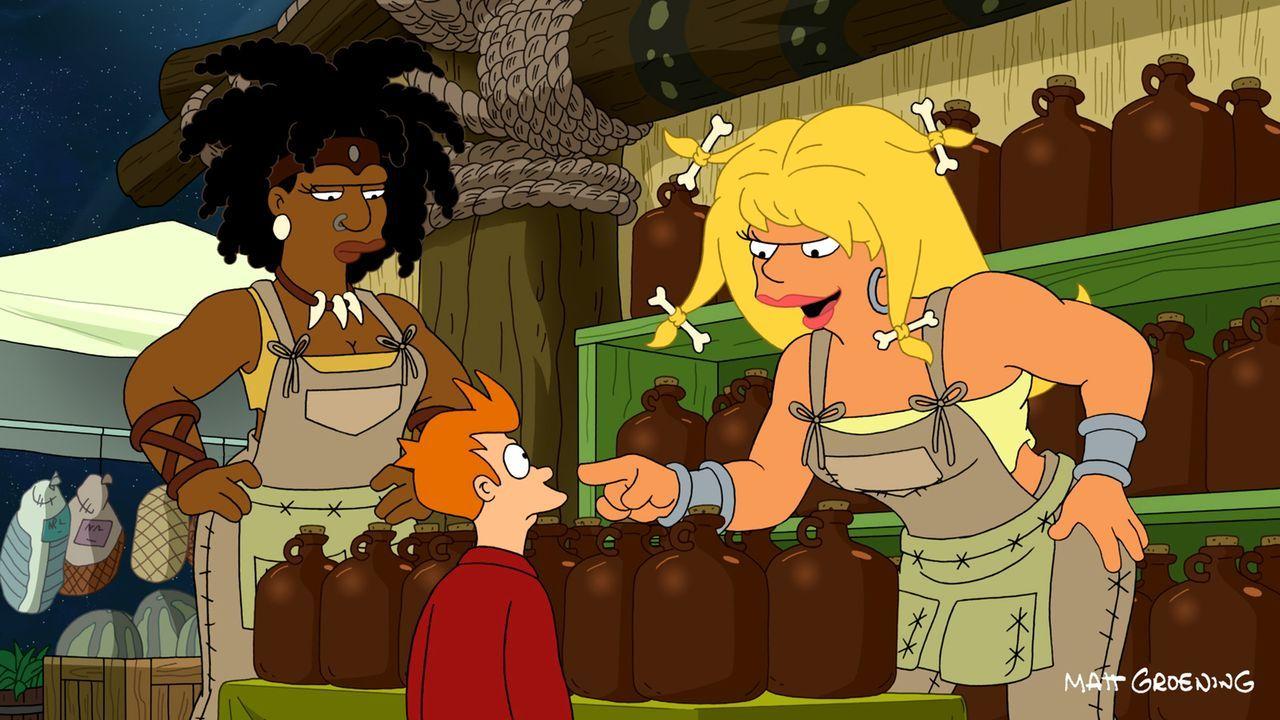 Als Fry (M.) ein Ei essen soll, aus dem ein Lebewesen schlüpfen kann, beschließt er es auszubrüten anstatt zu essen - mit fatalen Folgen ... - Bildquelle: 2011 Twentieth Century Fox Film Corporation. All rights reserved.