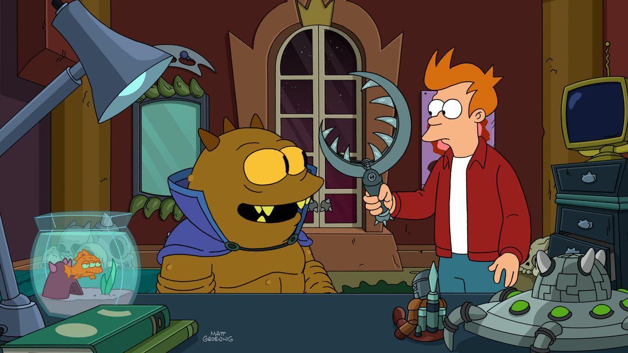 Lrrr verlangt von Jrrr (l.), dass er sein Haustier Fry (r.) umbringen soll. Nur durch die Freundschaft zwischen den beiden und durch das beherzte Ei... - Bildquelle: Twentieth Century Fox Film Corporation. All rights reserved.