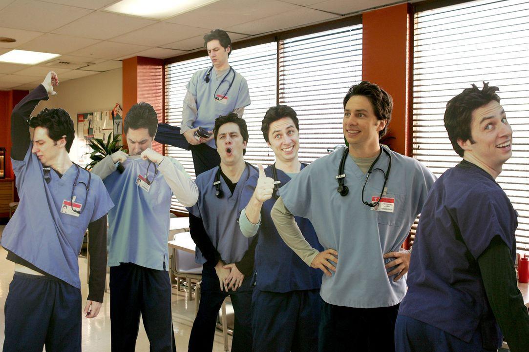 J.D. (Zach Braff) ist zum Facharzt aufgestiegen und das sollen ruhig alles wissen ... - Bildquelle: Touchstone Television