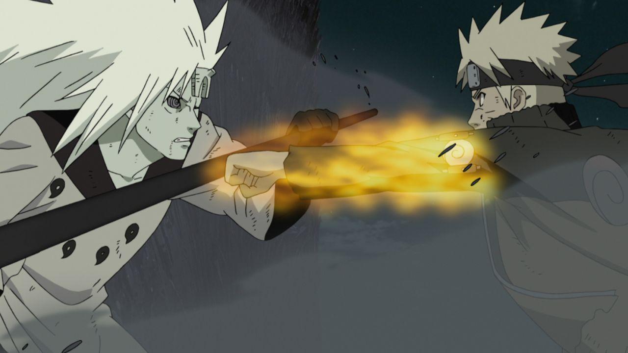 (v.l.n.r.) Madara; Naruto - Bildquelle: 2002 MASASHI KISHIMOTO / 2007 SHIPPUDEN