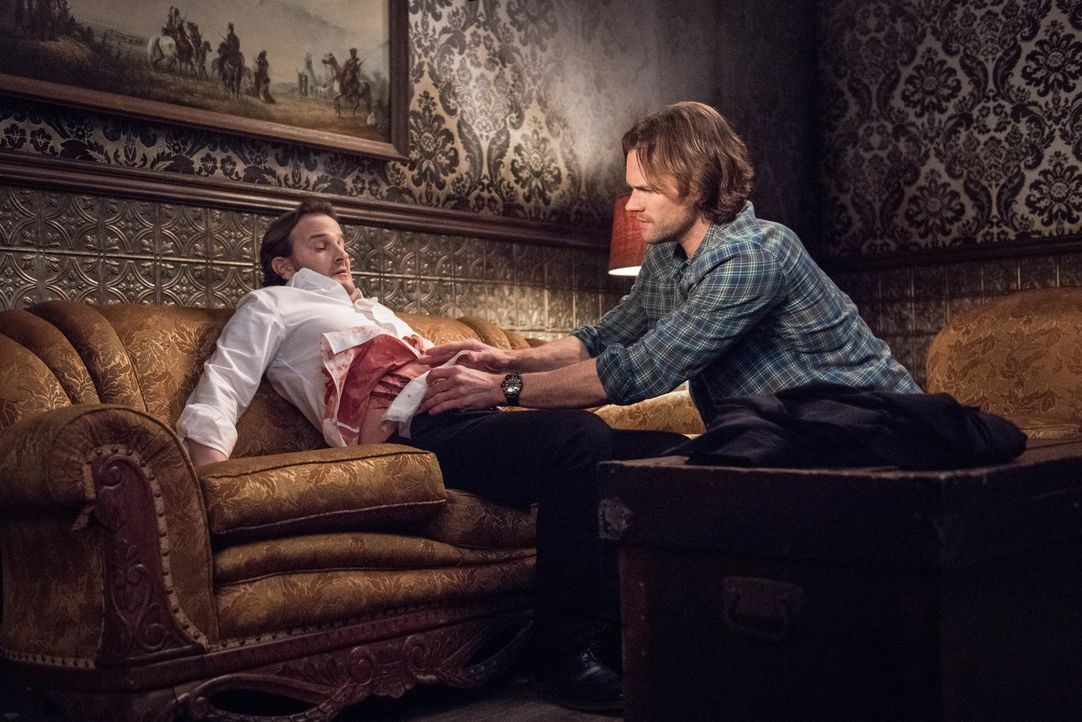 Gabriel (Richard Speight Jr., l.); Sam (Jared Padalecki, r.) - Bildquelle: Dean Buscher 2018 The CW Network, LLC. All Rights Reserved / Dean Buscher