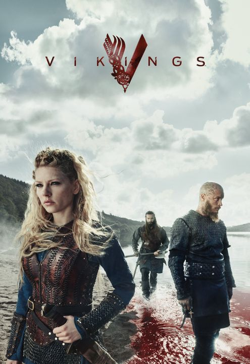 (3. Staffel) - Vikings: König Ragnar (Travis Fimmel, r.), Rollo (Clive Standen, M.) und Lagertha (Katheryn Winnick, l.) ... - Bildquelle: 2015 TM PRODUCTIONS LIMITED / T5 VIKINGS III PRODUCTIONS INC. ALL RIGHTS RESERVED.