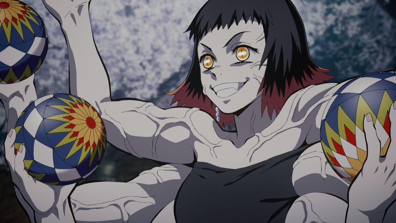 Tanjiro führt einen erbitterten Kampf gegen zwei Dämonen. Gemeinsam mit Nezu... - Bildquelle: Koyoharu Gotoge / SHUEISHA, Aniplex, ufotable