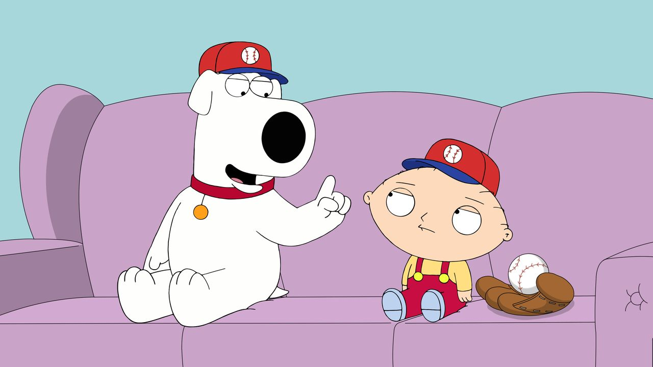 Brian Griffin (l.); Stewie Griffin (r.) - Bildquelle: 2018-2019 Fox and its related entities.  All rights reserved.