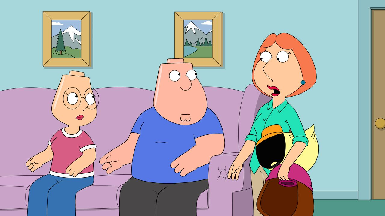 (v.l.n.r.) Meg Griffin, Chris Griffin, Lois Griffin - Bildquelle: 2018-2019 Fox and its related entities.  All rights reserved.
