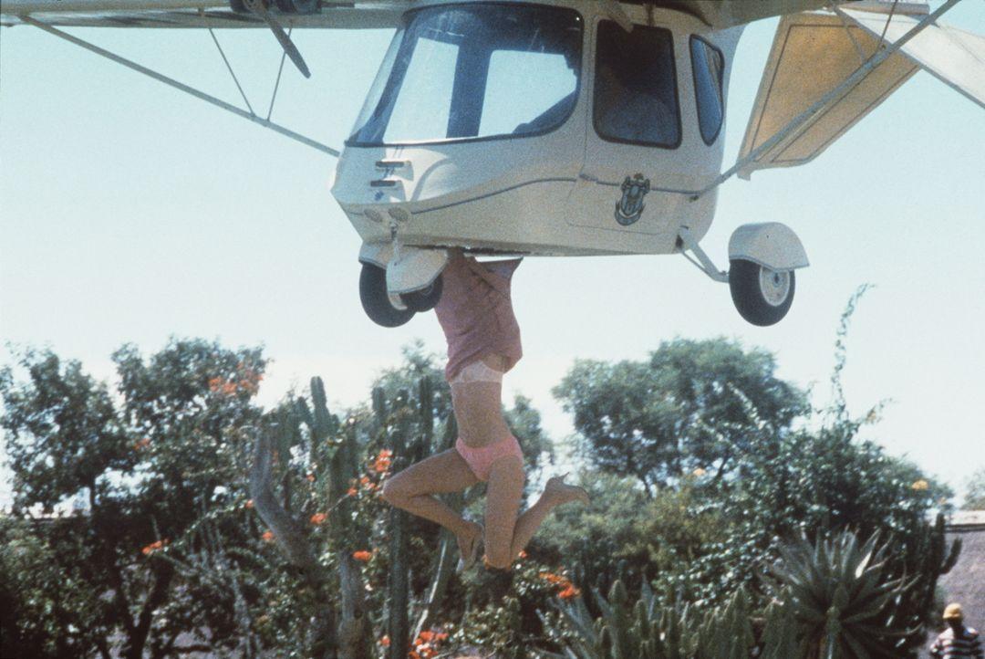 Beim Aussteigen aus dem Leichtflugzeug passiert der Amerikanerin Dr. Ann Taylor (Lena Farugia) ein kleines Missgeschick - sehr zur Freude ihres Begl... - Bildquelle: Columbia Pictures