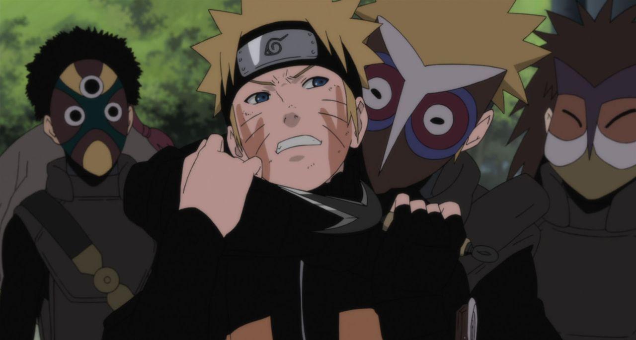 Naruto und seine Freunde machen sich auf ihrer Suche nach dem verschwundenen Shinobi Mukade auf den Weg zu den historischen Ruinen von Loran und wer... - Bildquelle: 2002 MASASHI KISHIMOTO /2007 Shippuden   NMP 2010