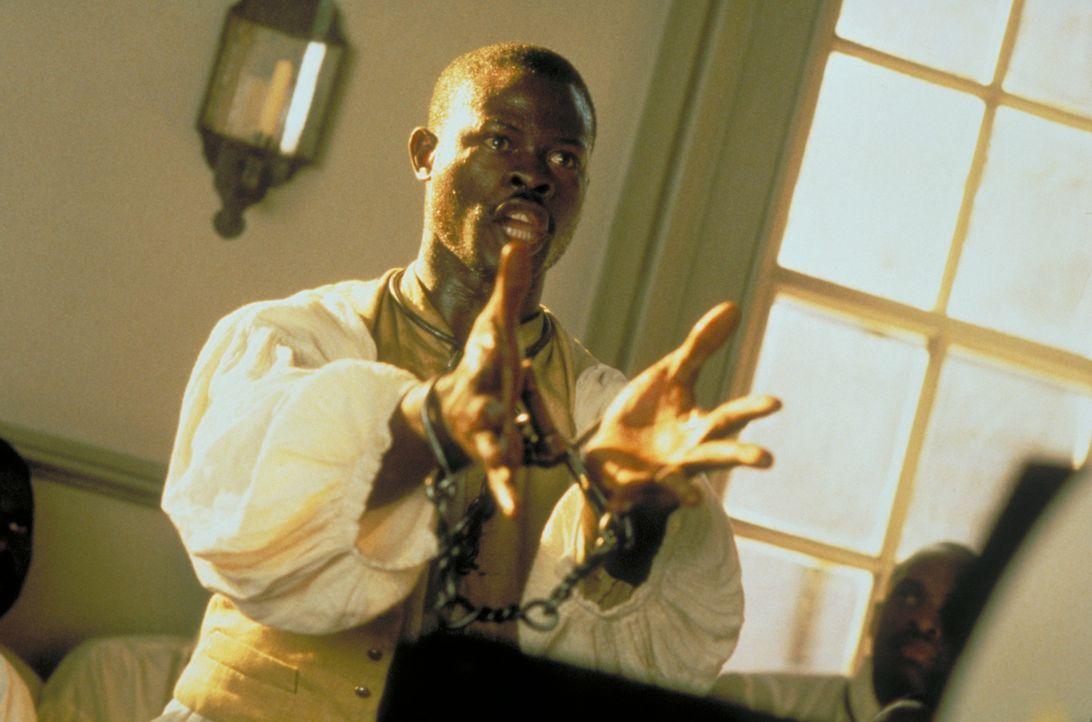 Der Anführer der aufständischen Afrikaner, Cinqué (Djimon Hounsou) verteidigt die Meuterei auf dem Sklavenschiff mit einer flammenden Rede ... - Bildquelle: DreamWorks Distribution LLC
