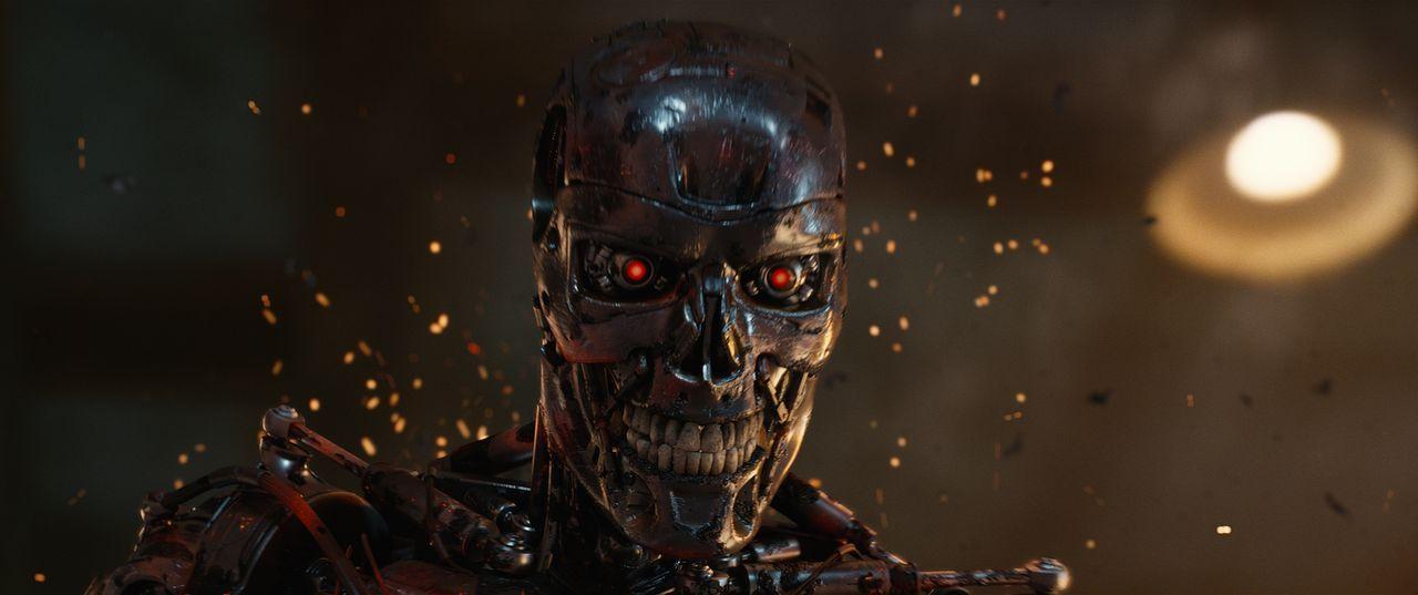 Die Terminatoren sind echte Killermaschinen. Trotz aller Bemühungen gibt es nur noch eine kleine Gruppe Menschen, die Widerstand leistet. Werden die... - Bildquelle: 2015 PARAMOUNT PICTURES. ALL RIGHTS RESERVED.