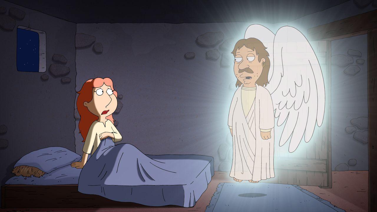 Zu Weihnachten erzählt Peter seiner Familie seine ganz eigene Weihnachtsgeschichte mit Lois als Maria (l.) ... - Bildquelle: 2013 Twentieth Century Fox Film Corporation. All rights reserved.