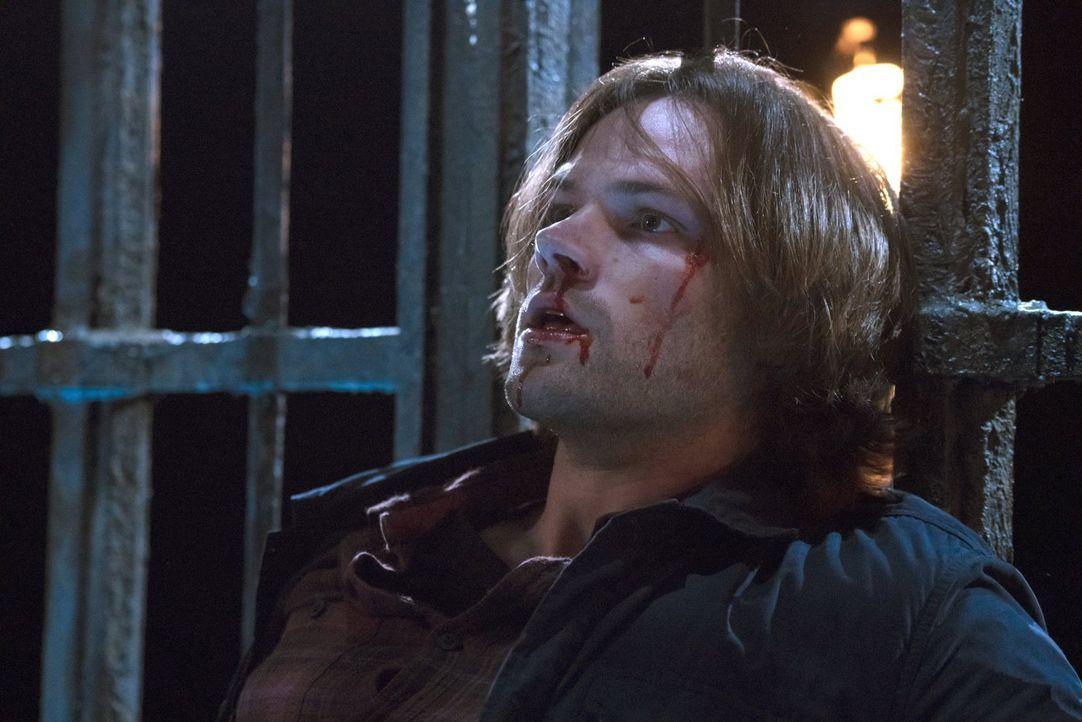 Eisern hält Sam (Jared Padalecki) gegen Lucifers ständige Versuche, ihn zur Aufgabe zu zwingen, Doch wie lange wird er dem Fürsten der Hölle noch et... - Bildquelle: 2014 Warner Brothers
