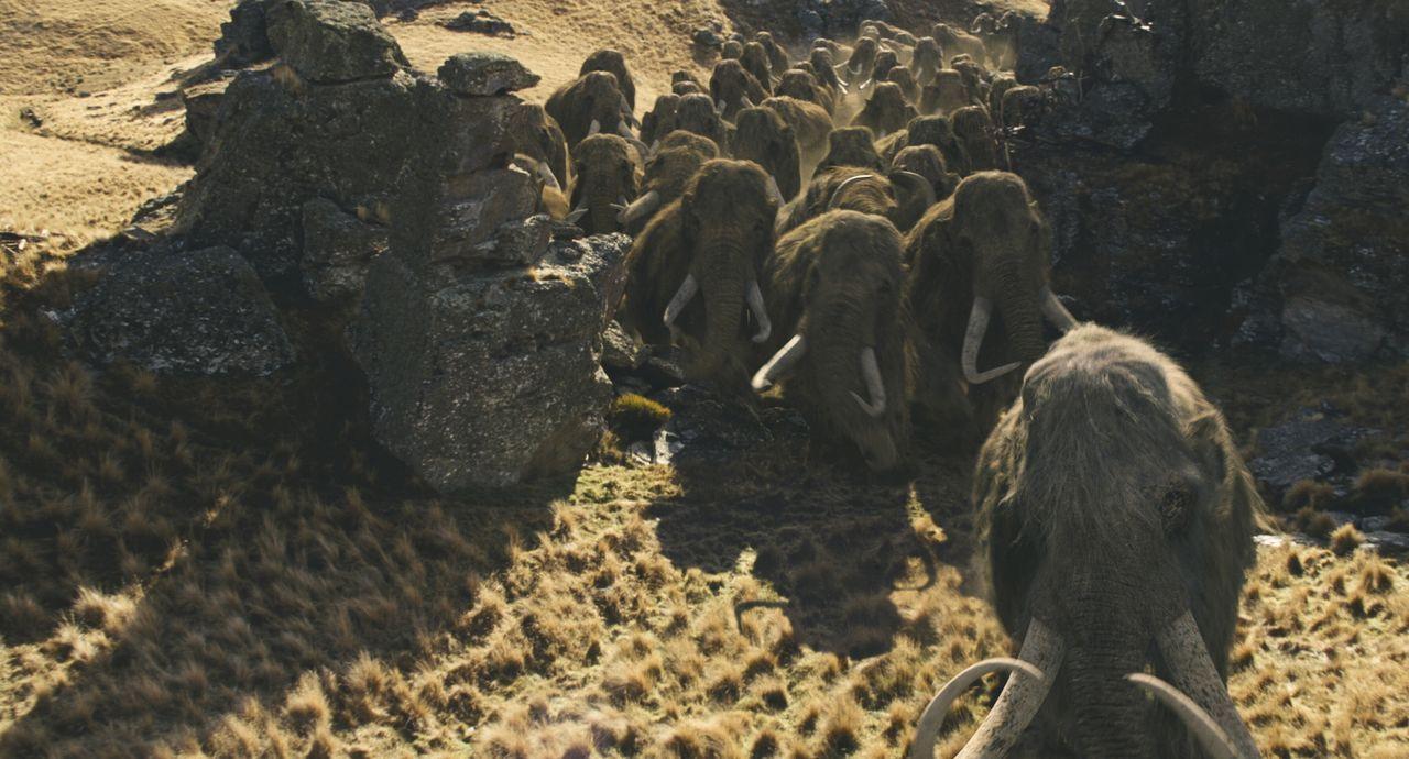 Die erfolgreiche Jagd auf Mammuts soll D'Leh das Herz seiner Angebeteten einbringen ... - Bildquelle: Warner Brothers