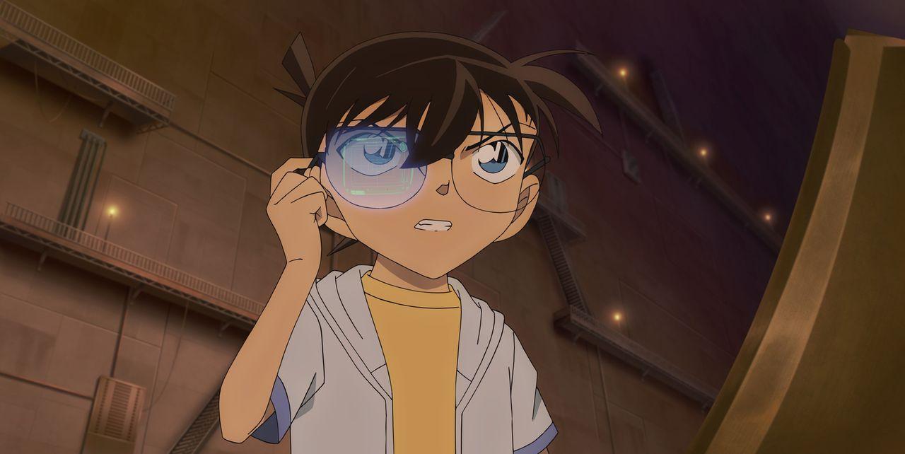 Als Conan (Bild) und seine Freunde im Tôto-Aquarium auf eine mysteriöse Fremde treffen, die sich offensichtlich an nichts erinnern kann, ahnen sie n... - Bildquelle: 2016 GOSHO AOYAMA / DETECTIVE CONAN COMMITTEE  All Rights Reserved