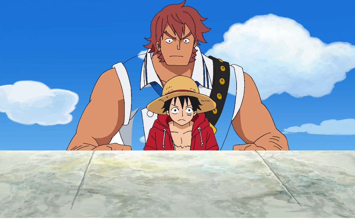 Ruffy (vorne) - Bildquelle: Film   1999 Toei Animation Co., Ltd.
