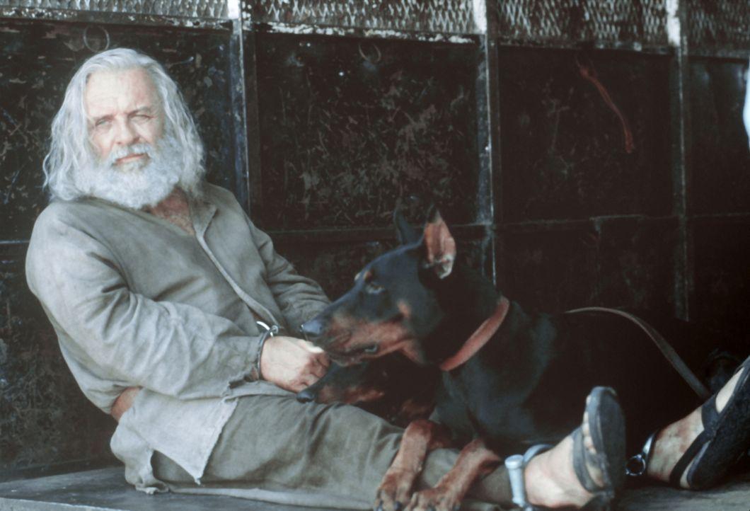 Dem Primatenforscher Dr. Powell (Anthony Hopkins) fressen die wildesten Tiere nach kürzester Zeit aus der Hand - selbst ein Bluthund wird bei ihm zu... - Bildquelle: Spyglass Entertainment Group.