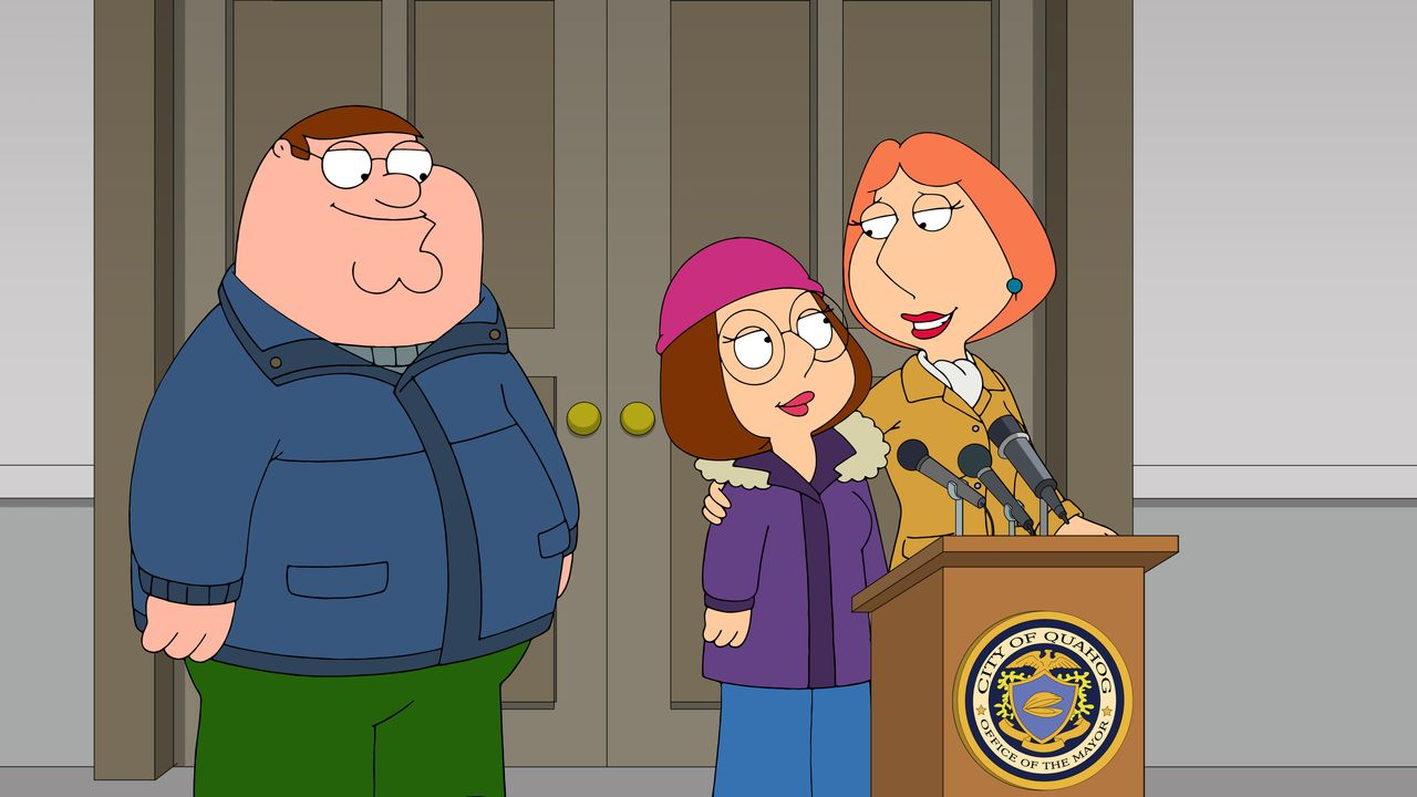 (v.l.n.r.) Peter Griffin, Meg Griffin, Lois Griffin - Bildquelle: 2018-2019 Fox and its related entities. All rights reserved.