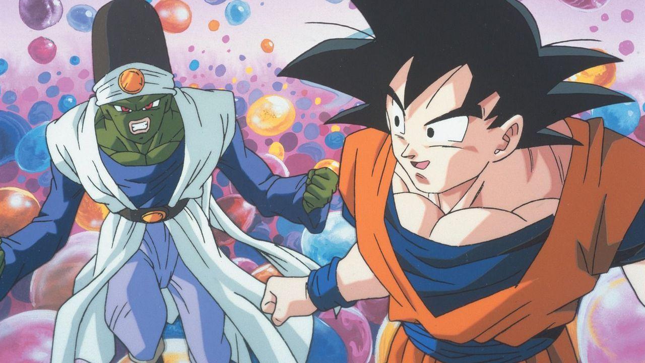 Paikuhan (l.); Goku (r.) - Bildquelle: Bird Studio/Shueisha, Toei Animation Film   1995 Bird Studio/Shueisha, Toei, Toei Animation