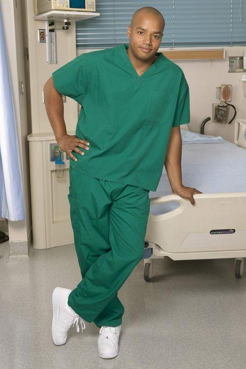 (4. Staffel) - Neurotische Patienten setzen Turk (Donald Faison) immer wieder gewaltig zu ... - Bildquelle: Touchstone Television
