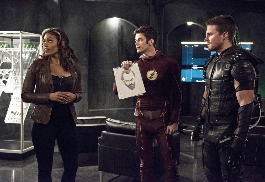 Nachdem ein mysteriöser Mann Kendra (Ciara Renée, l.) zu seinem Ziel erklärt hat, hofft Barry alias The Flash (Grant Gustin, M.) auf die Hilfe von O... - Bildquelle: 2015 Warner Brothers.