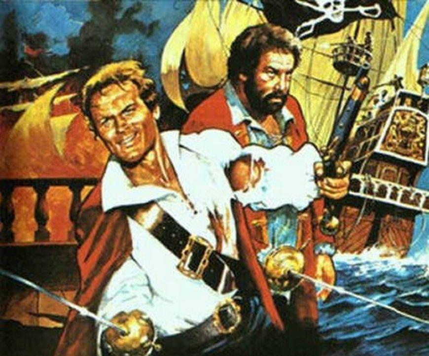 """Freibeuter der Meere"" - Artwork - Bildquelle: ACB Cinematografica und Capricornio Transcontinental Pictures"