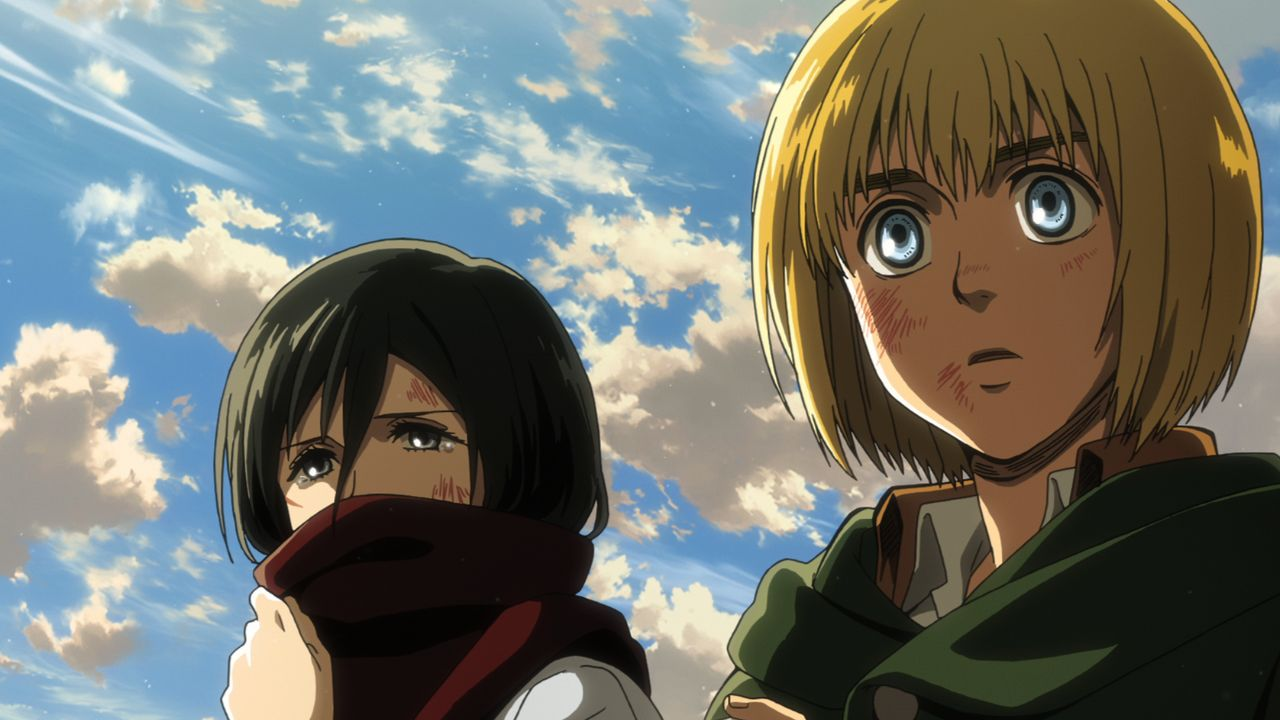 Mikasa (l.); Armin (r.) - Bildquelle: Hajime Isayama, Kodansha/ÒATTACK ON TITANÓ Production Committee. All Rights Reserved.