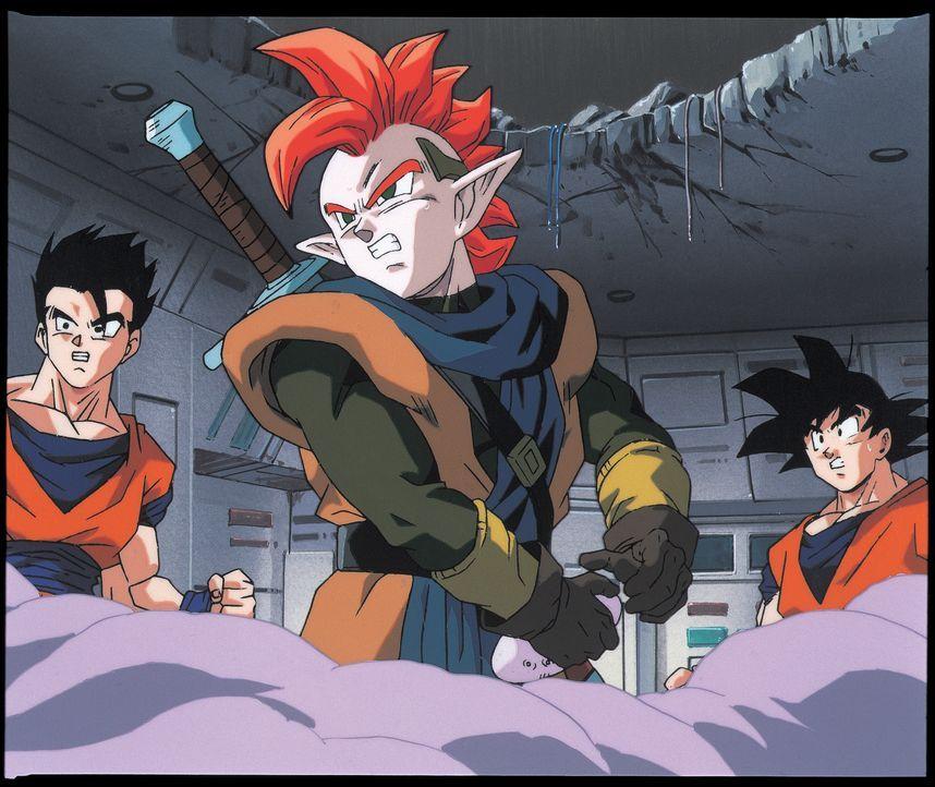 (v.l.n.r.) Gohan; Tapion; Goku - Bildquelle: Bird Studio/Shueisha, Toei Animation Film © 1995 Bird Studio/Shueisha, Toei, Toei Animation