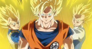 Vegeta, Son Goku und Son Gohan als Super-Saiyajin