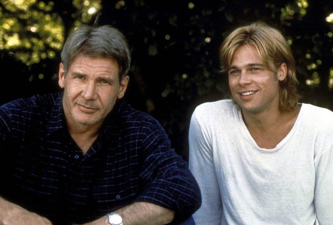Mit einer falschen Identität erschleicht sich Francis McGuire (Brad Pitt, r.) hinterhältig das Vertrauen des nichts ahnenden New Yorker Polizisten T... - Bildquelle: Columbia TriStar