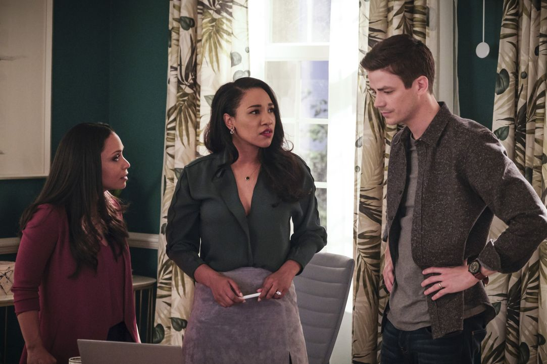 (v.l.n.r.) Cecille (Danielle Nicolet); Iris (Candice Patton); Barry (Grant Gustin) - Bildquelle: Jeff Weddell 2018 The CW Network, LLC. All rights reserved. / Jeff Weddell
