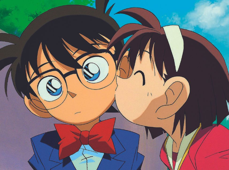 Weil Ayumi (r.) oft in Gefahr gerät und Conan (l.) sie aber immer wieder rettet, ist sie in ihren Helden verliebt ... - Bildquelle: Gosho Aoyama / Shogakukan, YTV, TMS 1996