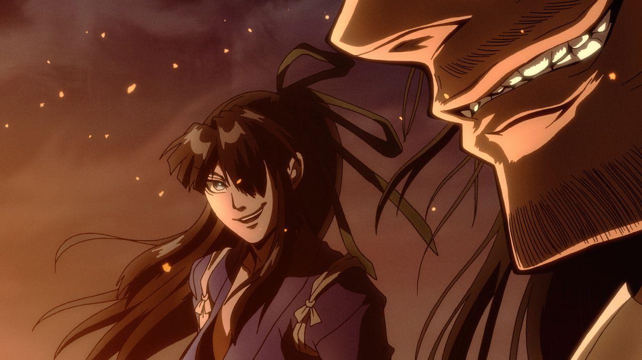 (v.l.n.r.) Nasu Suketaka Yoichi; Oda Nobunaga - Bildquelle: KOUTA HIRANO/Shonengahosha/DRIFTERS Committee