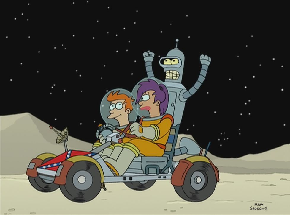 (v.l.n.r.) Fry; Leela; Bender - Bildquelle: 1999 Fox and its related entities. All rights reserved.
