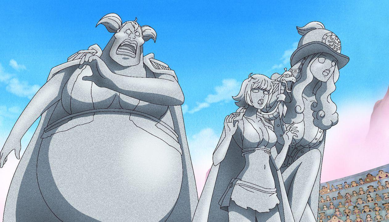 In der Kampfarena will die Piratenkaiserin kurzen Prozess mit Ruffy machen -... - Bildquelle: Eiichiro Oda/Shueisha, Toei Animation