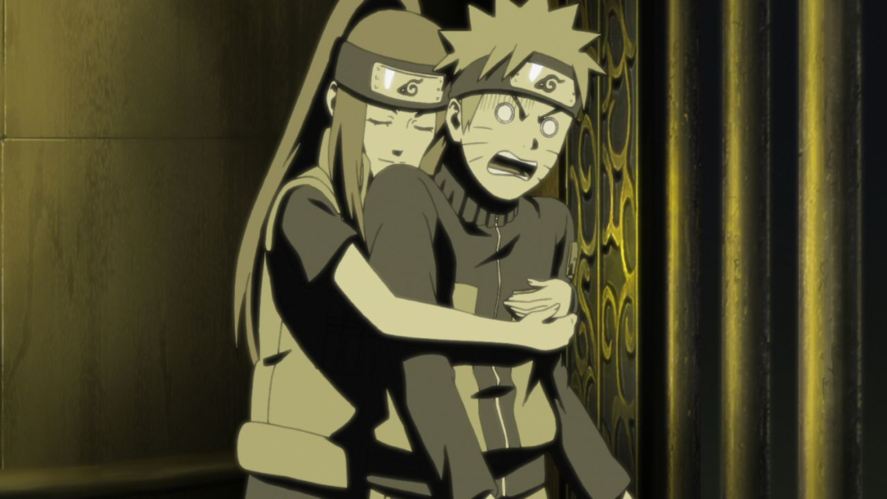(v.l.n.r.) Kushina Uzumaki; Naruto Uzumaki - Bildquelle: 2002 MASASHI KISHIMOTO / 2007 SHIPPUDEN