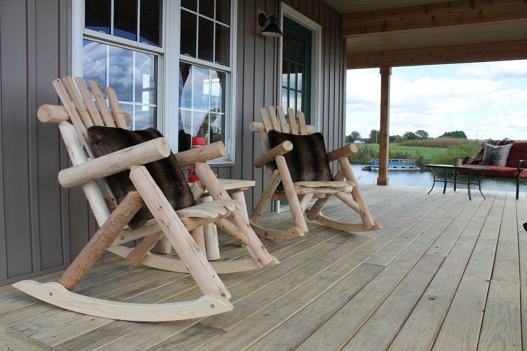Chuck Gabberts Familie liebt das Leben am See und wünscht sich eine zweite Hütte, um mehr Platz für Freunde, zum Jagen und Angeln zu haben. Die Herm... - Bildquelle: 2016,DIY Network/Scripps Networks, LLC. All Rights Reserved.