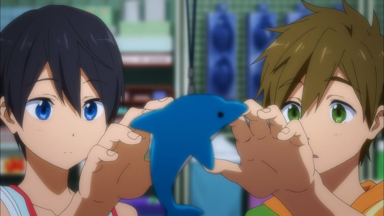 Haruka Nanase (l.); Makoto Tachibana (r.) - Bildquelle: 2017 Ohji Kouji/Kyoto Animation/Iwatobi High School Swimming Club TM the Promise Production Committee