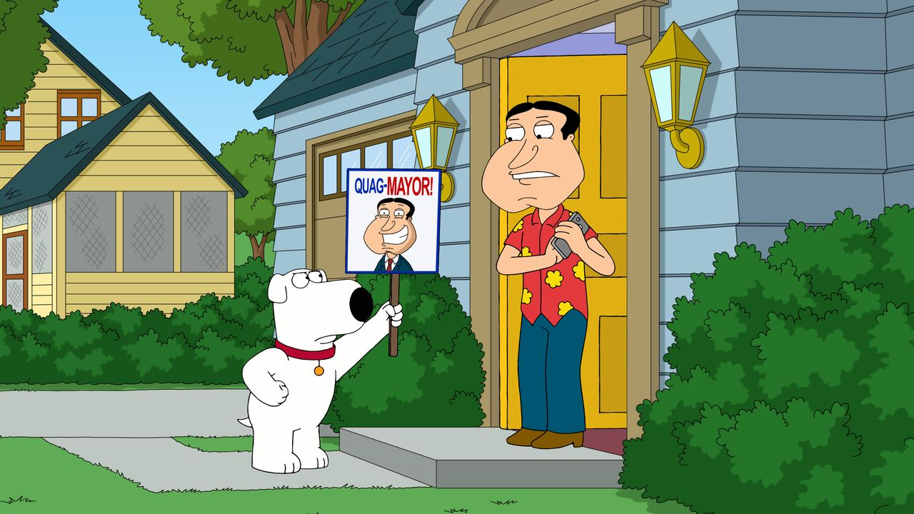 Brian Griffin (l.), Glenn Quagmire (r.) - Bildquelle: 2018-2019 Fox and its related entities.  All rights reserved.