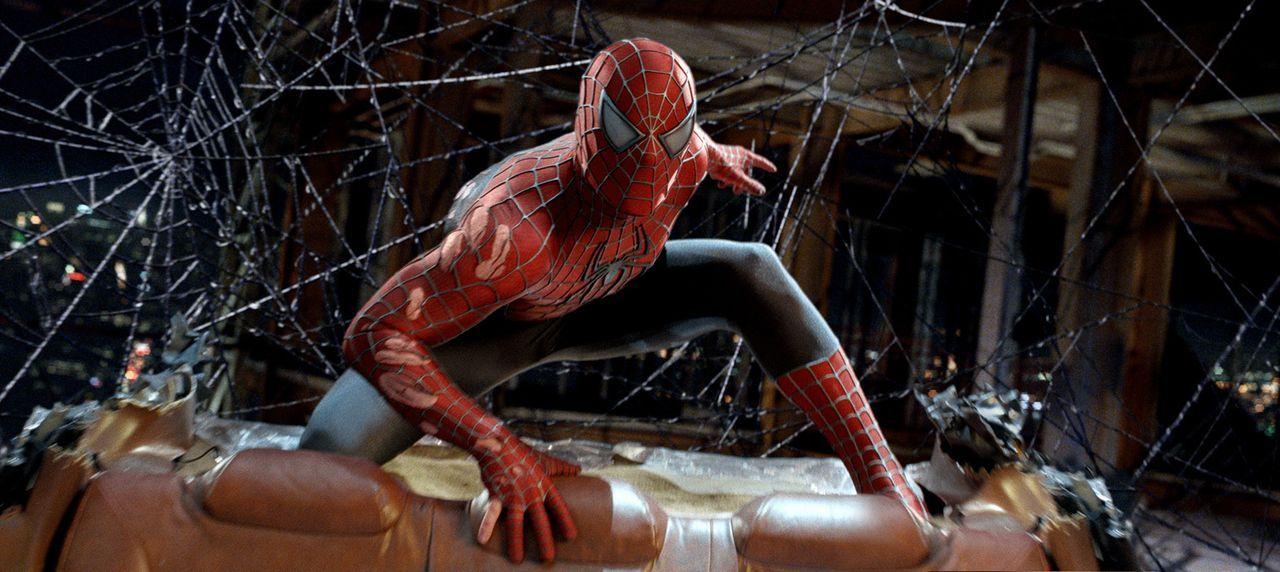 Langsam aber sicher steigt Spider-Man, im wahren Leben Peter Parker (Tobey Maguire), die große Beliebtheit bei der Bevölkerung zu Kopf. Er vergisst... - Bildquelle: 2007 Marvel Characters, Inc.  2007 CPII. All Rights Reserved.