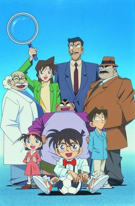 Durch eine chemische Substanz wird Hobby-Detektiv Shin'ichi Kudo (vorne) über Nacht vom Teenager zum Grundschüler und erlebt von nun viele spannende... - Bildquelle: Gosho Aoyama / Shogakukan, YTV, TMS 1996