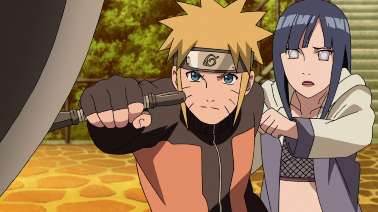 (v.l.n.r.) Naruto Uzumaki; Hinata Hyuuga - Bildquelle: 2002 MASASHI KISHIMOTO / 2007 SHIPPUDEN