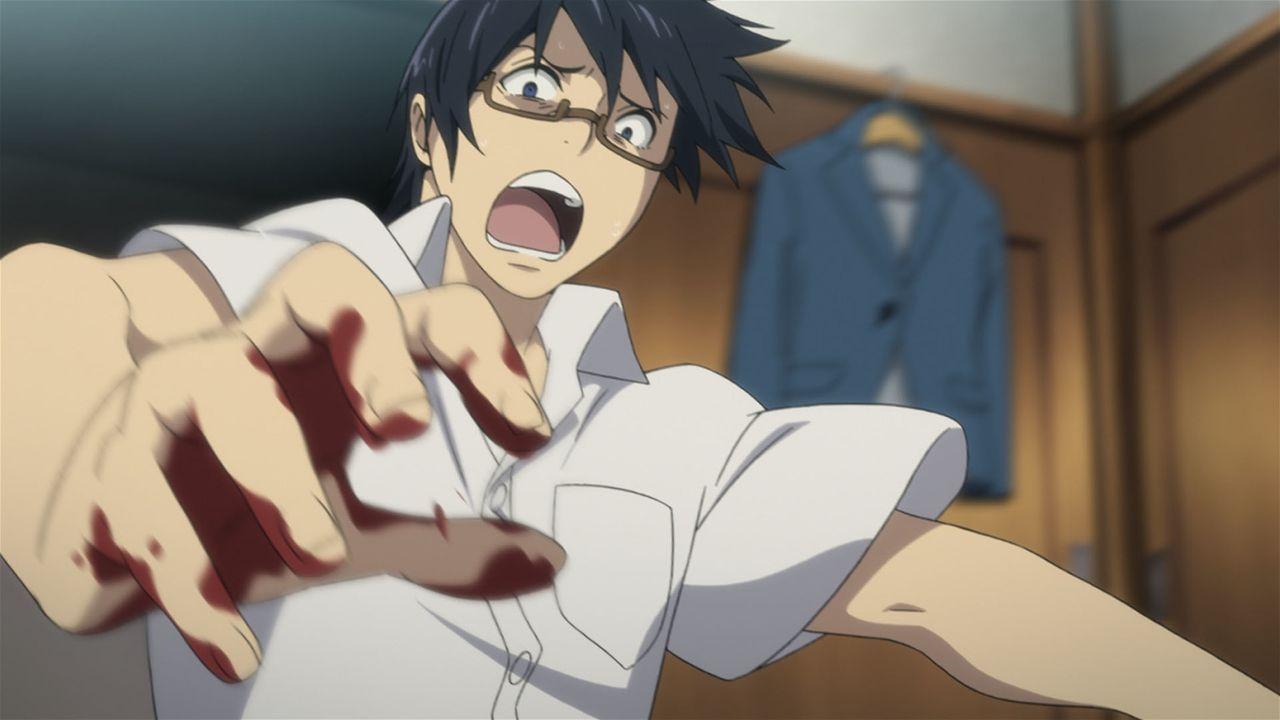 Als seine Mutter ermordet wird, befindet sich Satoru (Bild) plötzlich in der Vergangenheit und sein Leben gerät zunehmend außer Kontrolle. Doch was... - Bildquelle: 2016 Kei Sanbe/KADOKAWA/Bokumachi Animation Committee