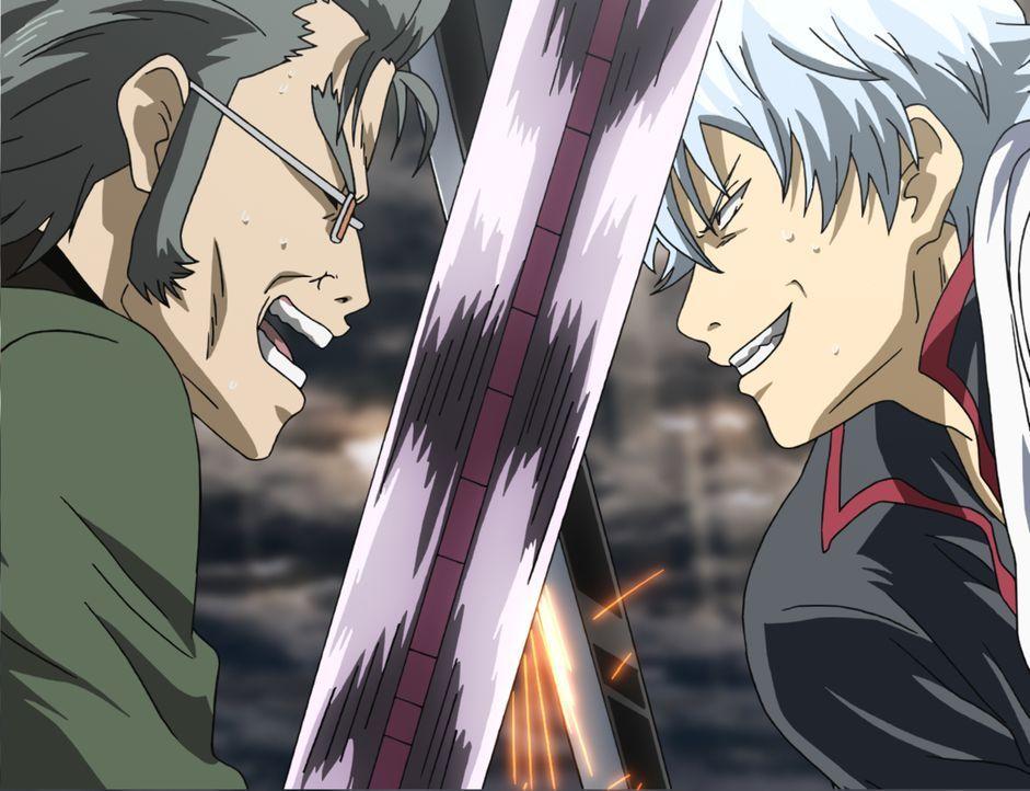 Langsam aber sicher wird dem Trio Gintoki (r.), Shinpachi und Kagura deutlich, dass die beiden Aufträge zusammenhängen und sie sich einem alten Beka... - Bildquelle: Hideaki Sorachi/GINTAMA the Movie