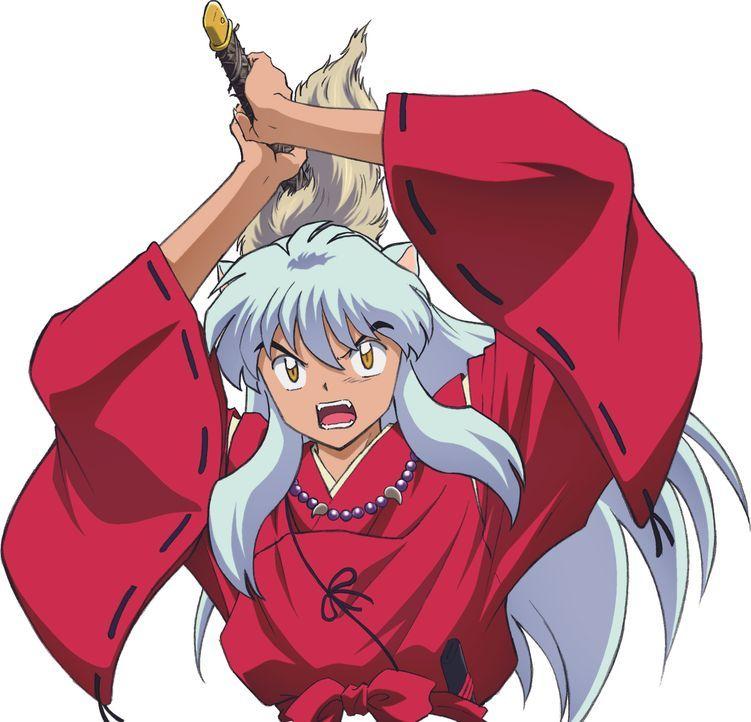 Nachdem sein Versuch, das magische Juwel zu stehlen, misslingt, fällt Halbdämon Inuyasha (Bild) in einen magischen Schlaf. Erst nach 50 Jahren wird... - Bildquelle: Rumiko Takahashi/Shogakukan, Yomiuri TV, Sunrise 2000