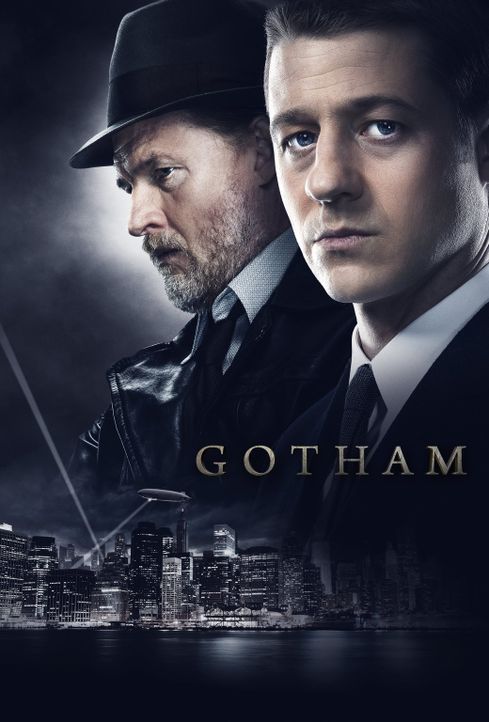 (1. Staffel) - Sorgen in Gotham für Recht und Ordnung: Detective Harvey Bullock (Donal Logue, l.), Detective James Gordon (Ben McKenzie,r.) ... - Bildquelle: Warner Bros. Entertainment, Inc.