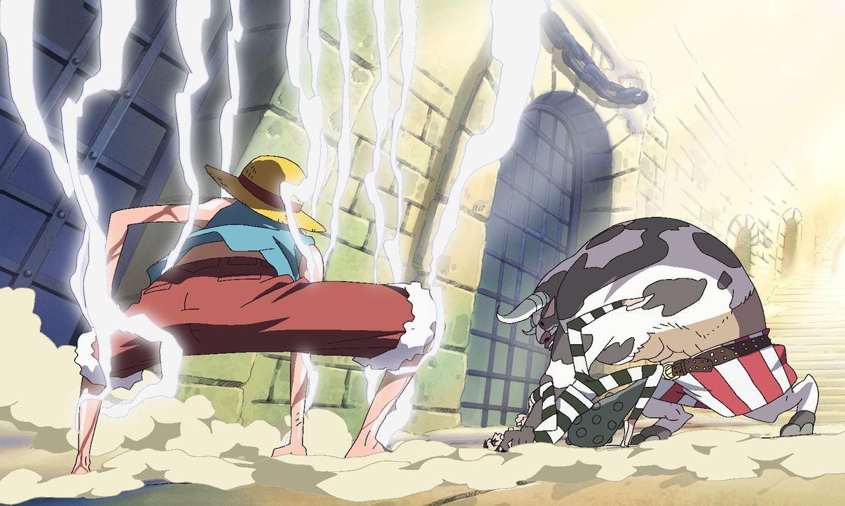Gefängnisdirektor Magellan schaltet sich ein! Das Netz um den Strohhut zieht sich zu. - Bildquelle: Eiichiro Oda/Shueisha, Toei Animation