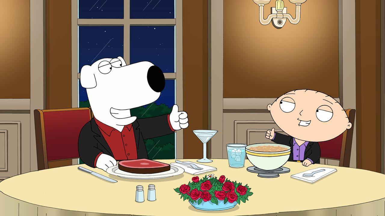 Na sowas, plötzlich gibt's Brian (l.) und Stewie (r.) doppelt! Beim Versuch, mit Brians neuer Teleportationsmaschine nach Las Vegas zu reisen, geht... - Bildquelle: 2013 Twentieth Century Fox Film Corporation. All rights reserved.