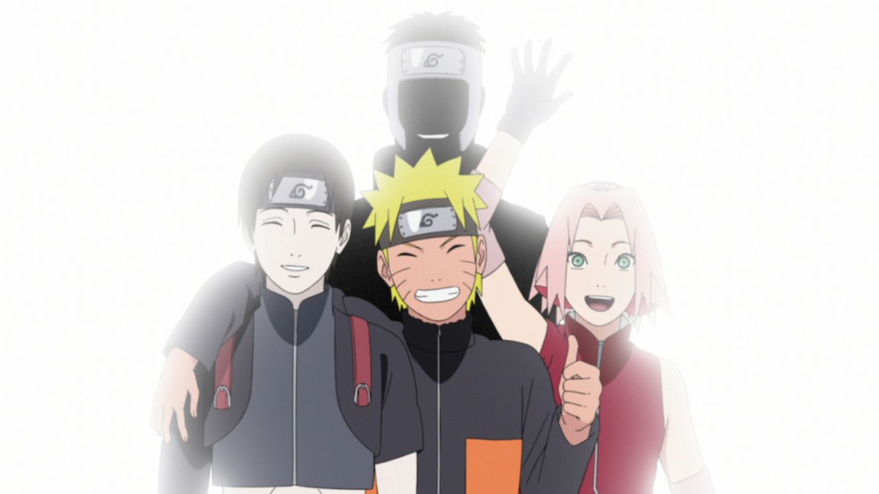 (v.l.n.r.) Itachi Uchiha; Naruto Uzumaki; Yamato; Sakura Haruno - Bildquelle: 2002 MASASHI KISHIMOTO / 2007 SHIPPUDEN