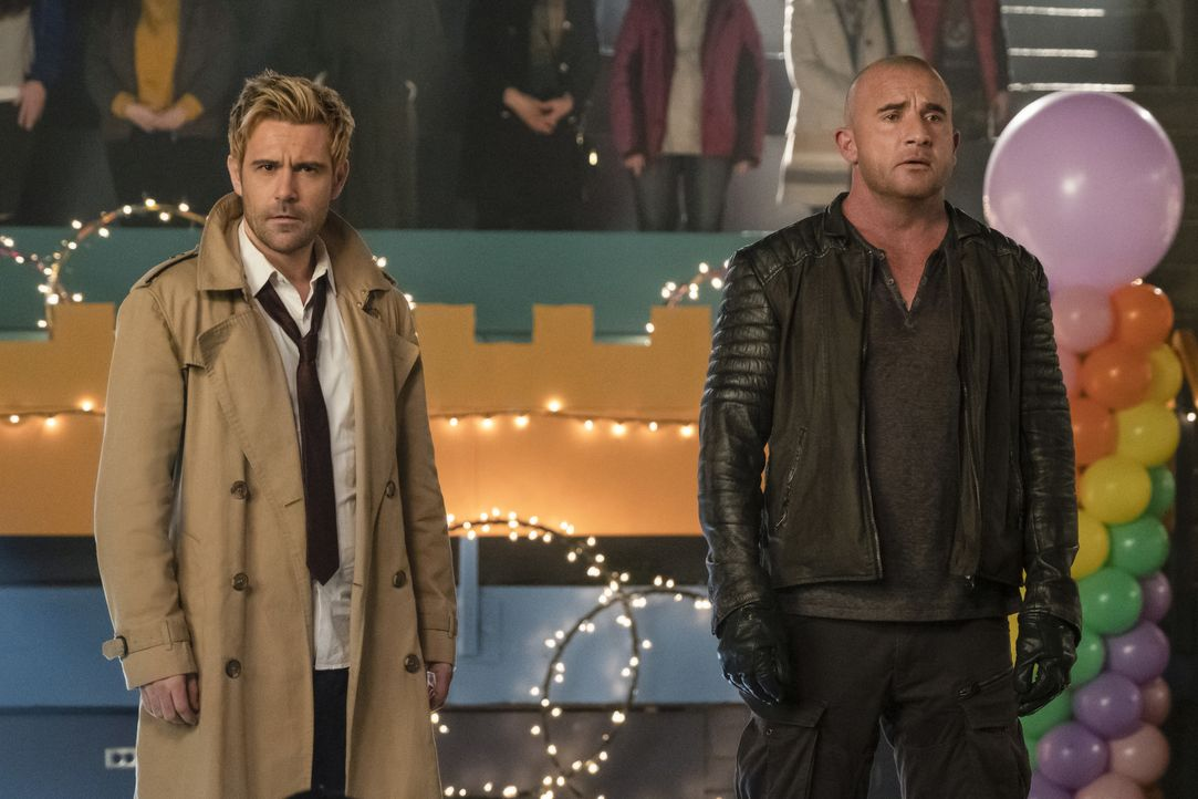 Constantine (Matt Ryan, l.); Rory (Dominic Purcell, r.) - Bildquelle: Katie Yu 2019 The CW Network, LLC. All rights reserved. / Katie Yu