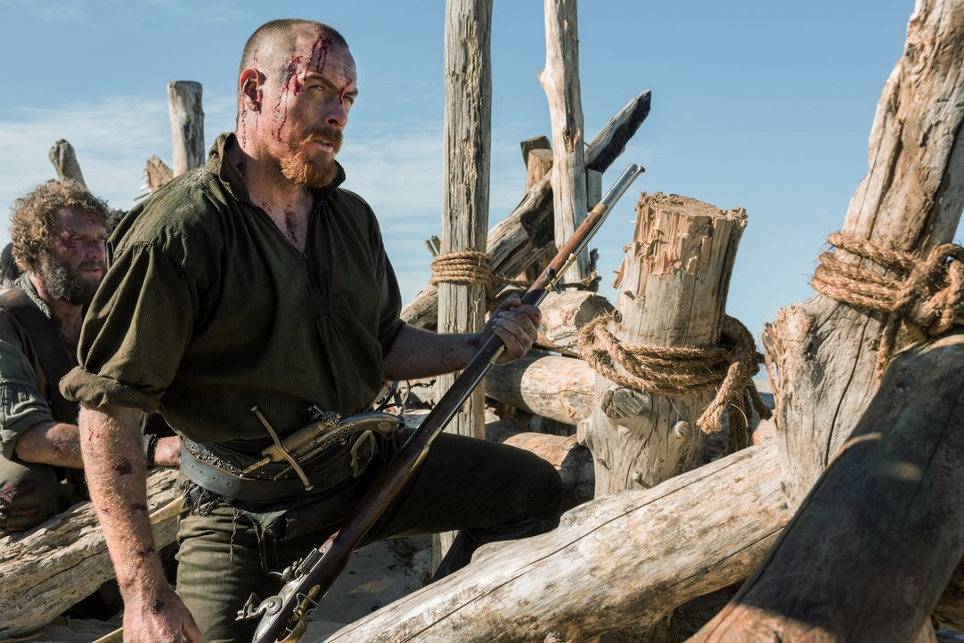 Hat eine Rechnung mit Captain Benjamin Hornigold offen: Captain Flint (Toby Stephens) ... - Bildquelle: David Bloomer 2016 Starz Entertainment, LLC. All Rights Reserved
