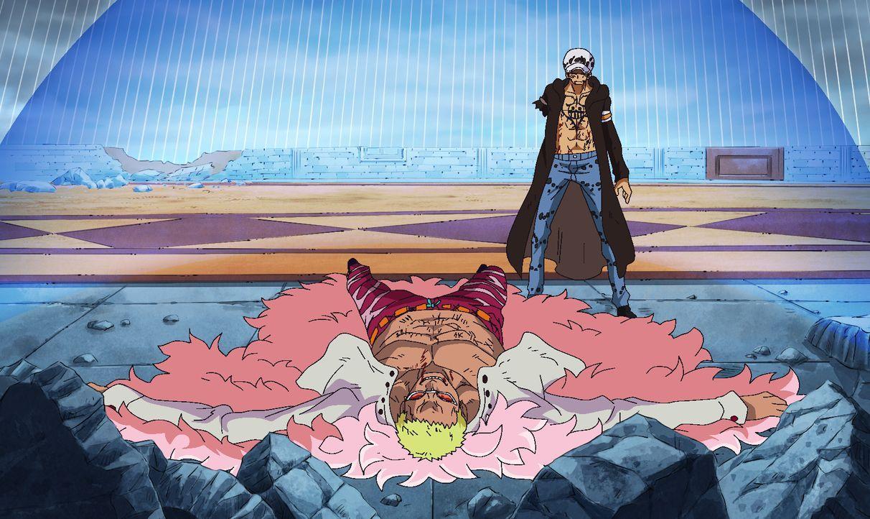 De Flamingo (l.); Trafalgar D. Law (r.) - Bildquelle: Eiichiro Oda/Shueisha, Toei Animation